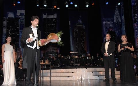 Maestro Tchobanov with award