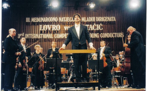With Zagreb Philharmonic in Lisinski Hall after the final round on Matačić competition